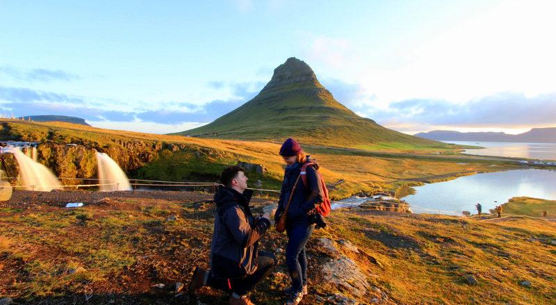 A Sunrise Proposal at Kirkjufell, Iceland